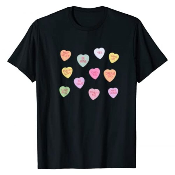 GrayFox Happy Valentines Day Shirts Graphic Tshirt 1 Happy Valentines Day Candy Conversation Hearts T-Shirt
