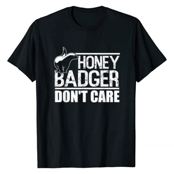 BW Honey Badger Tops Graphic Tshirt 1 Funny Honey Badger T-Shirt