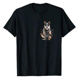 Blue Heeler Tee Graphic Tshirt 1 Blue Heeler In Pocket Puppy T Shirt