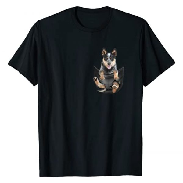 Blue Heeler Tee Graphic Tshirt 1 Blue Heeler In Pocket Puppy T Shirt