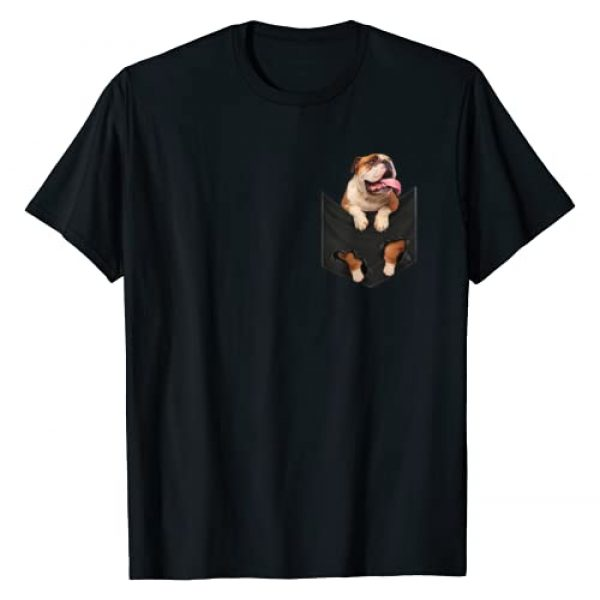 Cute english bulldog Gift for Dog Owners Graphic Tshirt 1 Funny english bulldog in Your Pocket for Dogs Lovers T-Shirt