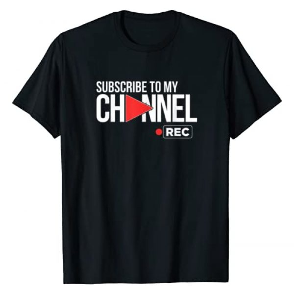 LIke Subscribe and Follow GIfts by SUCKERHUG Graphic Tshirt 1 Video Sharing for Online Streaming Content Creators T-Shirt