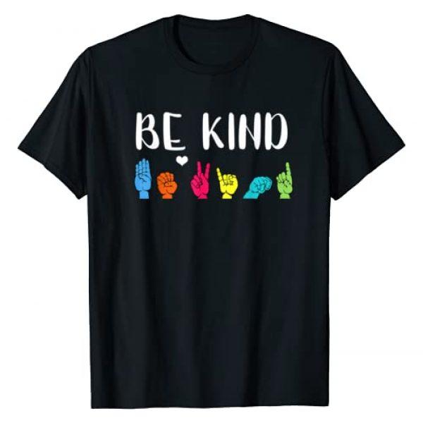 Be Kind ASL American Sign Language Kindness Graphic Tshirt 1 Be Kind ASL American Sign Language Cute Kindness T-Shirt