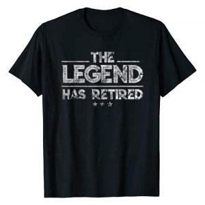 Retirement Shirts By No1 Tees Graphic Tshirt 1 Retirement Tshirts For Men - The Legend Has Retired Tshirt T-Shirt