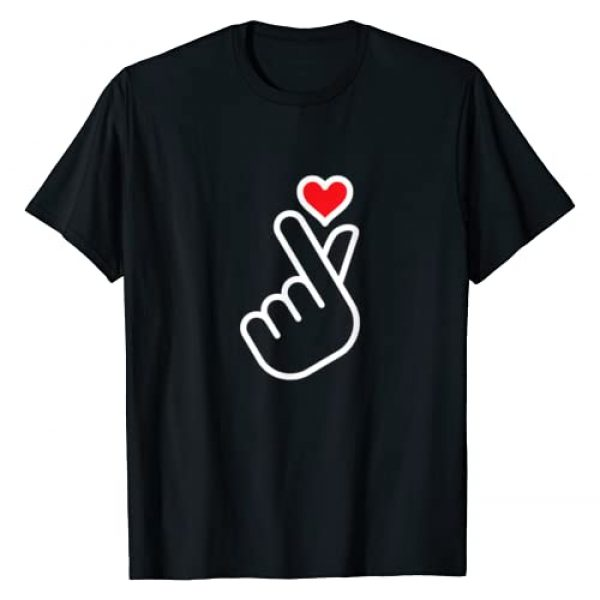 Finger Heart Graphic Tshirt 1 Shape Cute Asian Kpop Style Finger Shape Heart T-Shirt