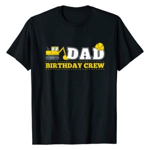 Construction Truck Party Gifts Co. Graphic Tshirt 1 Mens Dad Birthday Crew Construction Birthday Party Theme T Shirt