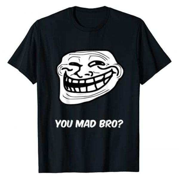 BuzzTshirt Graphic Tshirt 1 Funny T-shirt - Troll Face, You Mad Bro