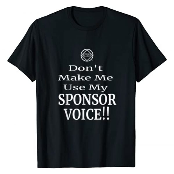 Clean Living Apparel Graphic Tshirt 1 Funny Use Sponsor Voice Narcotics Anonymous Gift Shirt NA AA T-Shirt