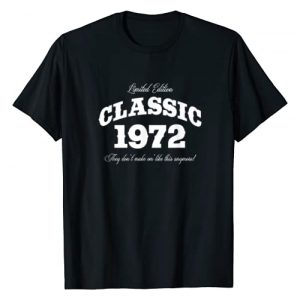 BORN Graphic Tshirt 1 Gift for 48 Year Old: Vintage Classic Car 1972 48th Birthday T-Shirt