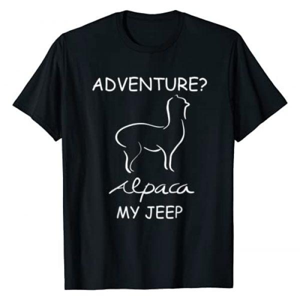 JOE.H - Funny, Birthday Alpaca Shirts & Clothing. Graphic Tshirt 1 Adventure Alpaca My Jeep - Road Trip Adventures Shirt T-Shirt