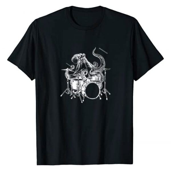 SEEMBO Graphic Tshirt 1 Octopus Playing Drums Drummer Drumming Musician Band T-Shirt