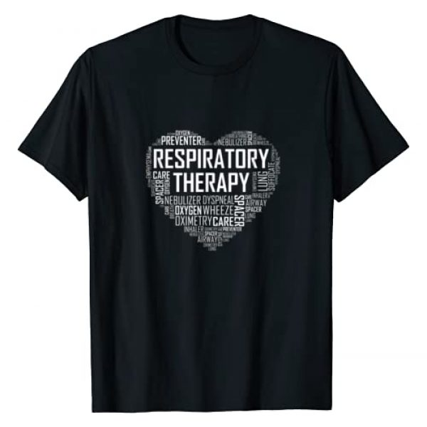 Respiratory Therapist Tees Co Graphic Tshirt 1 Respiratory Therapist Heart Gift Therapy Care Week T-Shirt