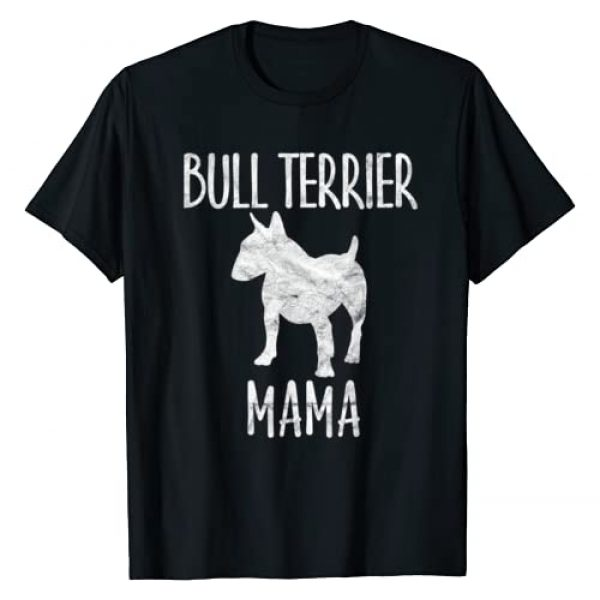 Retro English Bullterrier Mom Gift Lover Clothes Graphic Tshirt 1 Vintage Bull Terrier Mama Gift Bully Mom Dog Owner Mother T-Shirt