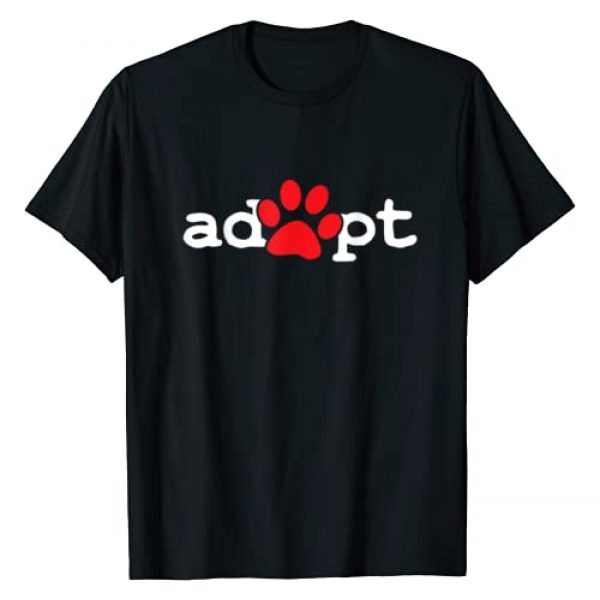 Dog Lover Tees Graphic Tshirt 1 Dog Rescue Adopt Paw T-Shirt