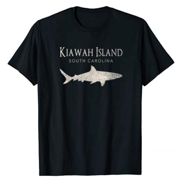 Kiawah Island Shark Tshirt Graphic Tshirt 1 Retro Kiawah Island SC Shark T-Shirt