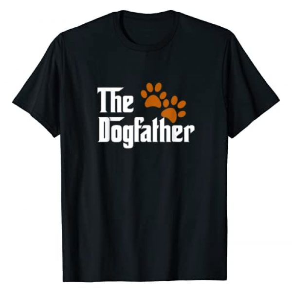 Dog Lovers Dog Owners Dog Paws Gift Tee Shirts Graphic Tshirt 1 Cool Dog Dad Dog Father Shirt The DogFather T-Shirt