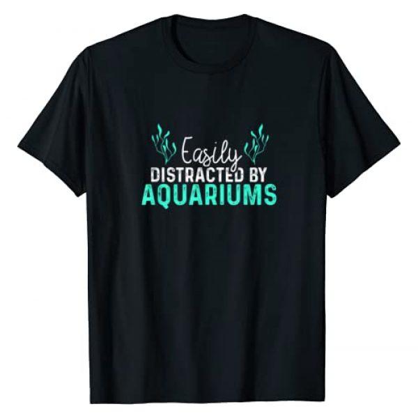 SHIRTSIDE Aquarium Graphic Tshirt 1 Aquariums Easily Distracted - Fish Tank Gift Fish Lover Gift T-Shirt
