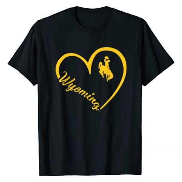 FanPrint Graphic Tshirt 1 Wyoming Cowboys Heart Team Name T-Shirt - Apparel