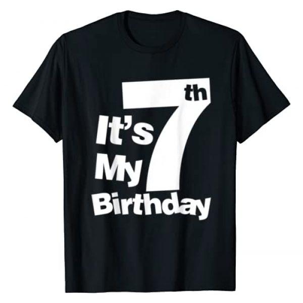 Birthday Shirts Co Graphic Tshirt 1 7th Birthday Shirt. It's My 7 Birthday 7 Year Old Birthday T-Shirt
