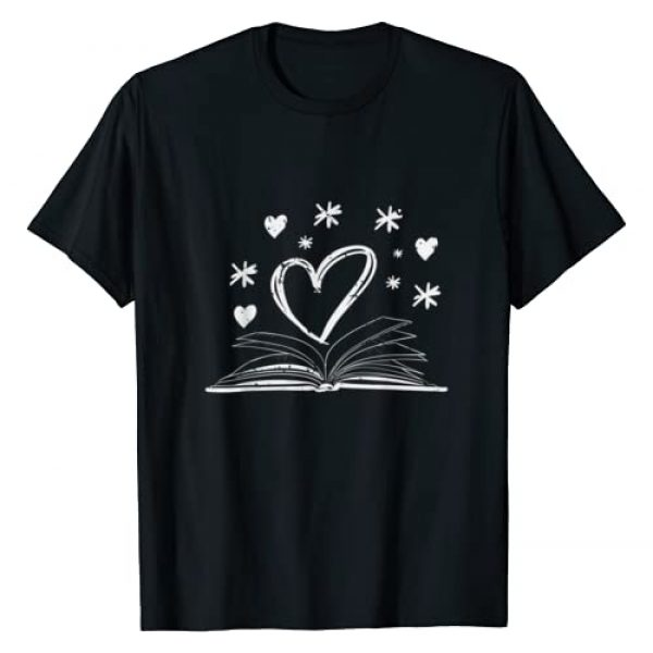 Reading Tees & Gifts Graphic Tshirt 1 Bookworm Librarian Valentines Day Gift Book Reading T-Shirt
