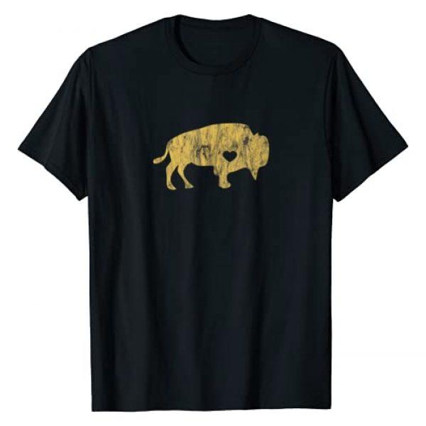 I Love Wild Buffaloes Gift Company Graphic Tshirt 1 I Love Buffaloes Golden Buffalo Bison Lover Gift Ideas T-Shirt