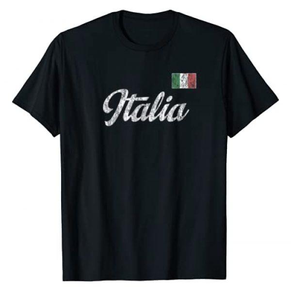 Vintage Italian T Shirts & Tees Graphic Tshirt 1 Italy T-Shirt Vintage Italia Sports Design Italian Flag Tee