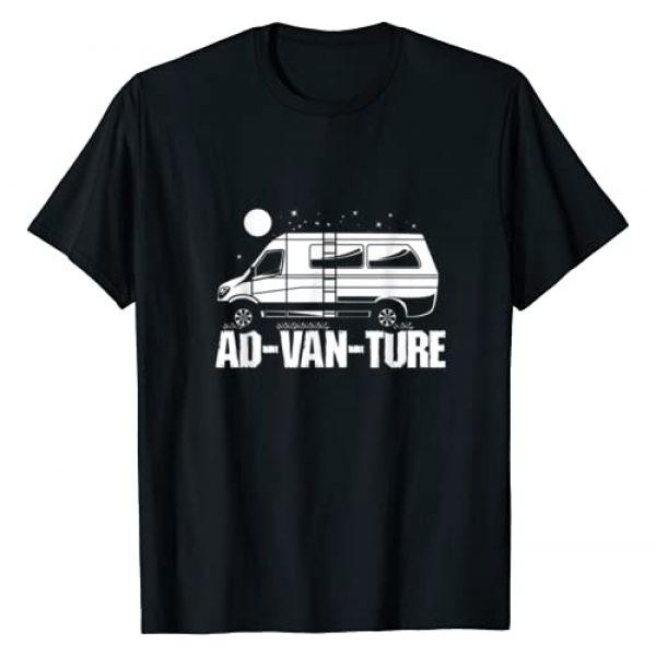 Van Lover Apparel Clothing & Gifts Graphic Tshirt 1 Funny Camper Van Life Gift I Vanlife Ad-Van-Ture T-Shirt