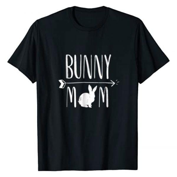 Bunny Rabbit Pet Apparel Graphic Tshirt 1 Bunny Mom Funny Bunnies White Rabbit Gift T-Shirt - White