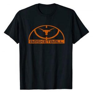 FanPrint Graphic Tshirt 1 Texas Longhorns Elite Basketball Shirt - Apparel T-Shirt