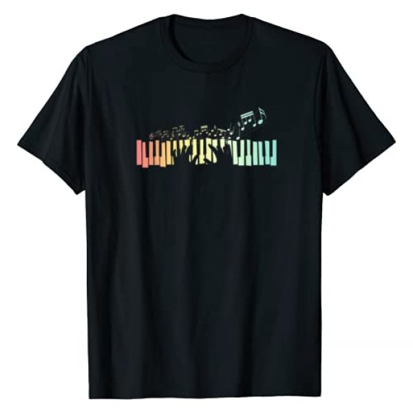 Musician Piano Player Gift Music Piano Graphic Tshirt 1 Pianist Gift Idea Keyboards Music Notes Piano T-Shirt