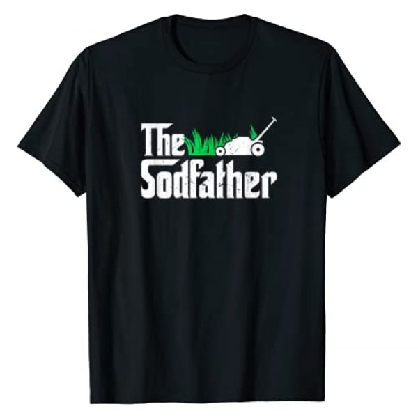 Lawn and Garden Landscaper Shirts and Accessories Graphic Tshirt 1 The Sodfather Parody | Funny Lawn Landscaping Dad Gift T-Shirt