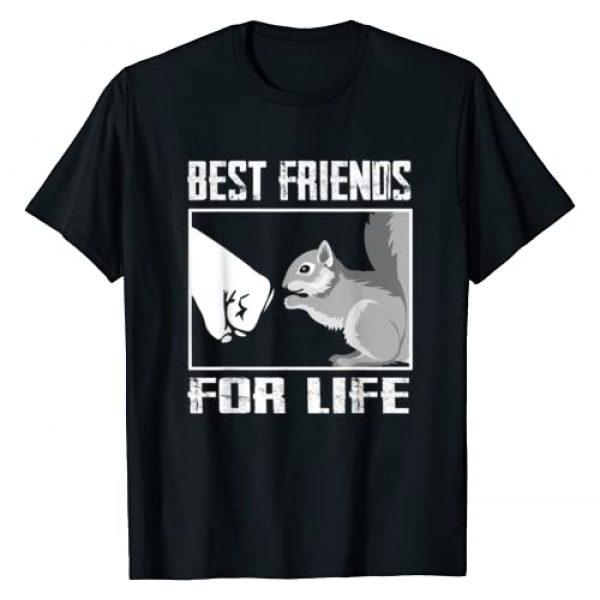 Squirrel Lover T-Shirt Graphic Tshirt 1 Squirrel Best Friend For Life T-shirt Squirrel Lover Shirt