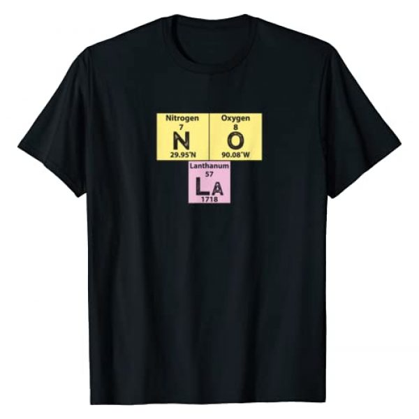 Funny New Orleans Tshirt New Orleans NOLA Shirt Co Graphic Tshirt 1 Funny New Orleans Tshirt Periodic Table of Elements NOLA Tee