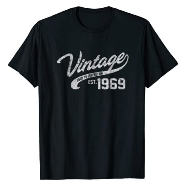 AGED TO PERFECTION Graphic Tshirt 1 Vintage Made In 1969 T-Shirt 49th Birthday Gift