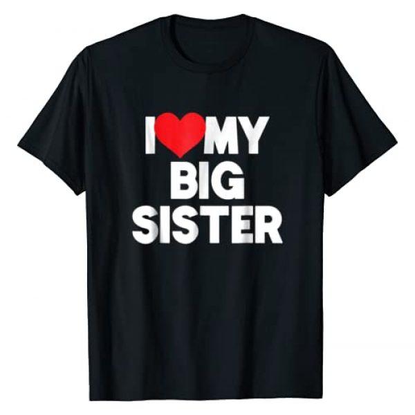 Big Sister Vibes 2019 Tees Graphic Tshirt 1 I Love My Big Sister TShirt First Time Elder Sister 2019 Tee