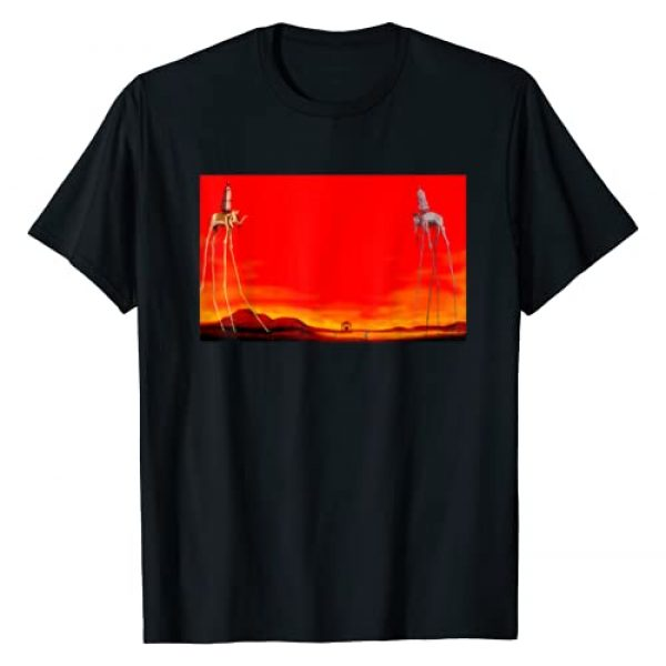 Great Famous Painting & Famous Painter Collection Graphic Tshirt 1 The Elephants Famous Painting By Dali T-Shirt