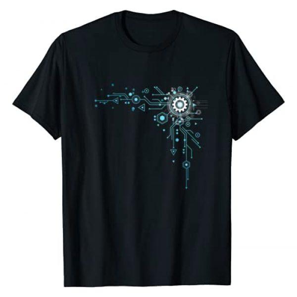 Computer Nerd Technology Gifts Graphic Tshirt 1 Computer Circuit Tshirt - Engineer Gifts - Computer Nerd T-Shirt