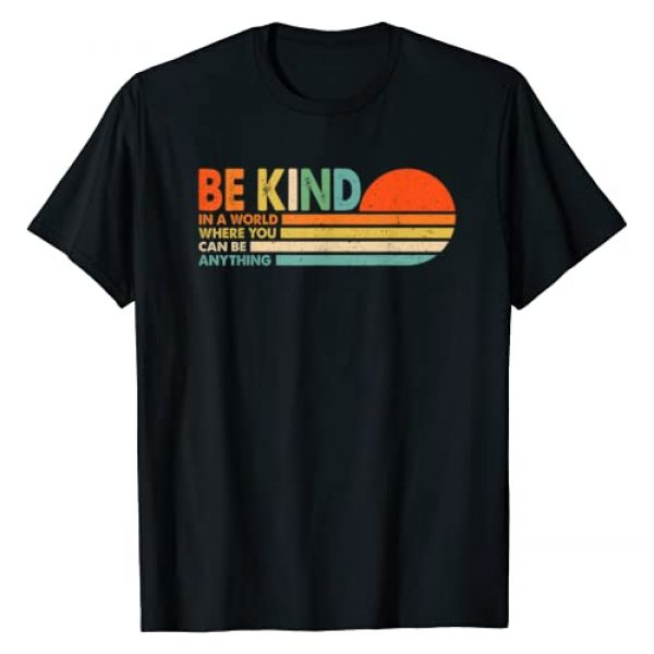 Hippe style retro 70s 80s tee Graphic Tshirt 1 In A World Where You Can Be Anything Be Kind T-Shirt