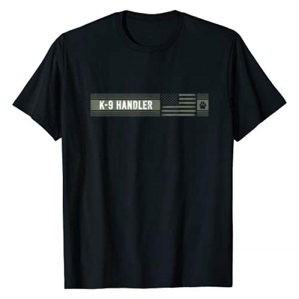 K-9 Handler K9 Unit Gifts Graphic Tshirt 1 K-9 Handler K9 Unit Gift | Distressed | American Flag T-Shirt
