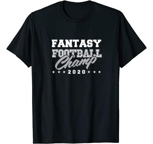 Fantasy Football champ 2020 shirts, clothes, gifts Graphic Tshirt 1 Fantasy Football champ 2020 league gift T-Shirt