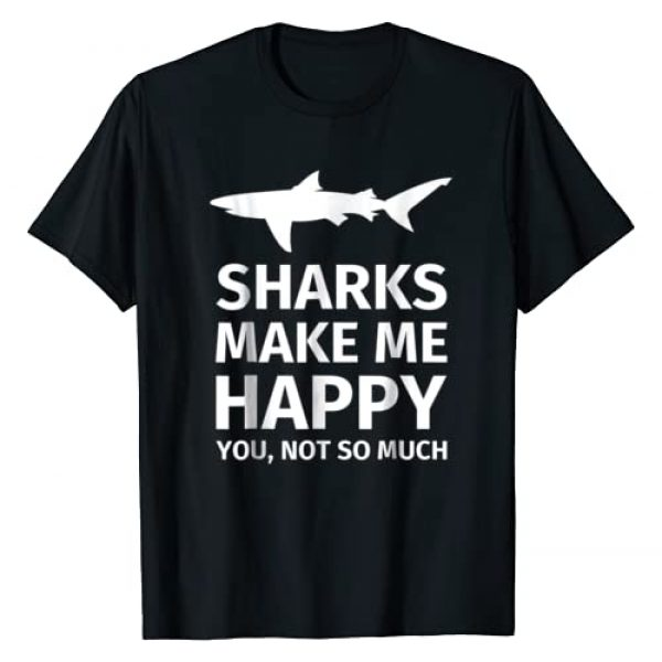 Shark Gifts Graphic Tshirt 1 for Shark Lovers - Funny Sharks Happy T-Shirt