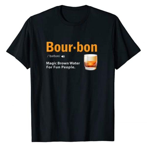 Whiskey Lover Bourbon Funny Saying Gift Apparel Graphic Tshirt 1 Whiskey Bourbon Definition Shirt Magic Brown Water Kentucky T-Shirt