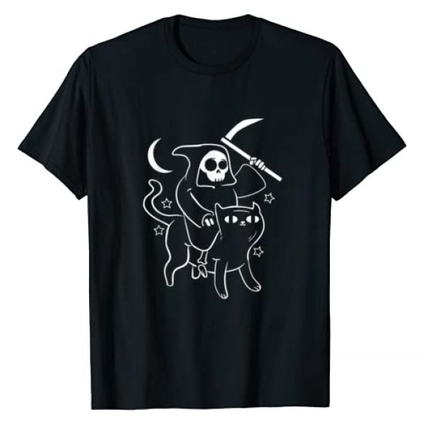 Hail Satan Apparel by CrushRetro Graphic Tshirt 1 Grim Reaper Ride Satan Cat Demonic Evil Devil Occult Satanic T-Shirt