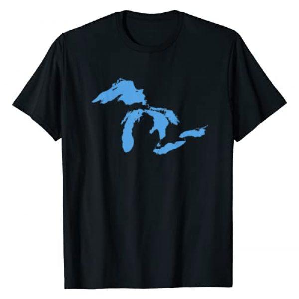 Michigander Tees Graphic Tshirt 1 Great Lakes Michigan T-Shirt