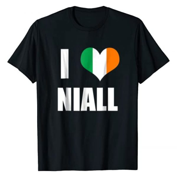 Heart Ship Tees Graphic Tshirt 1 I Love Niall T-Shirt - Ireland Flag Heart