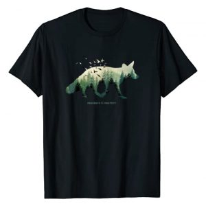 Retro National Park Shirts For Women, Men & Kids Graphic Tshirt 1 Preserve & Protect Vintage National Park Fox Forest T-Shirt