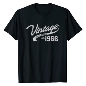 AGED TO PERFECTION Graphic Tshirt 1 Vintage Made In 1966 T-Shirt 52nd Birthday Gift