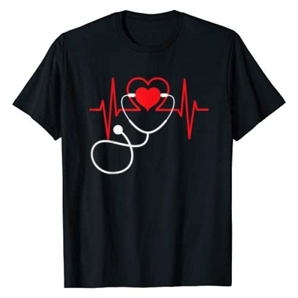 Nurse Doctor Heartbeat Medical stethoscope Tshirt Graphic Tshirt 1 Funny Heart Beats Nurse Nursing Medical T Shirt Men woman