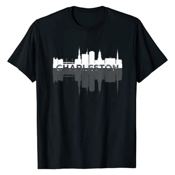 Charleston S.C. Low Country Gifts & Tees Co. Graphic Tshirt 1 Buildings of Charleston SC Vacation Arthur Ravenel Bridge T-Shirt