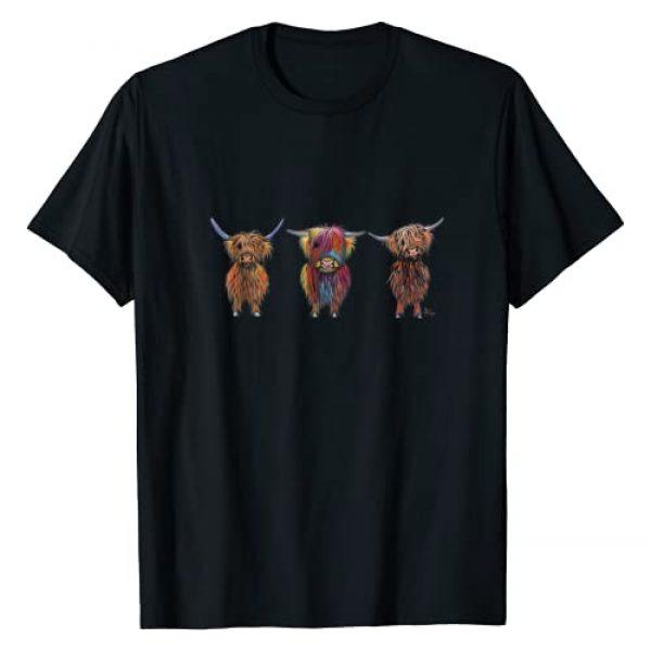 SHiRLeY MacARTHuR Graphic Tshirt 1 CoW PRiNT ANiMaL PRiNT HiGHLaND CoWS ' ALL THRee ' T-Shirt